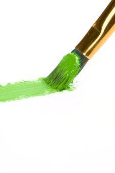 Free Brushe Painting On White Royalty Free Stock Image - 13696136