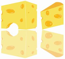 Free Cheese Pieces Stock Photography - 13696492