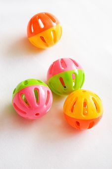 Free Round Colorful Rattles Royalty Free Stock Photos - 13696778