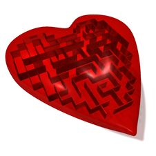 Free Heart Maze Stock Photo - 13696800