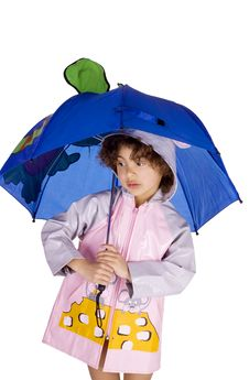 Free Girl With Umbrella Stock Photos - 13696833