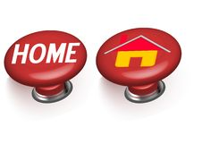 Free 3d Home Buttons Stock Photos - 13697183