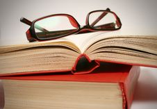 Free Book And Glasses Stock Photography - 13697612