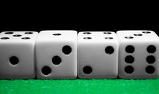 Free Row Of Dice Royalty Free Stock Photos - 13697738