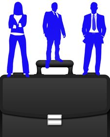 Free Business Briefcase Vector Royalty Free Stock Image - 13697886