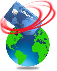 World Credit In The Red Vector Stock Photo