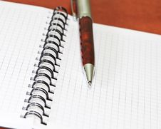 Free Pen With Notebook. Royalty Free Stock Photography - 13698297