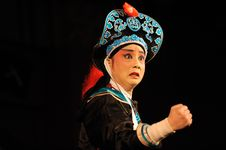 Free China Opera Actor Clenched Fist Stock Photography - 13698562