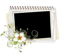 Beautiful Spring Frame With Apple Tree Flowers Stock Photo