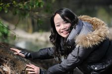 Smile Asian Woman Royalty Free Stock Images