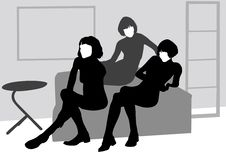 Free Womens On Sofa Stock Images - 13699024