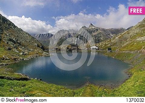 Swiss mountaint lake landscape Stock Photo