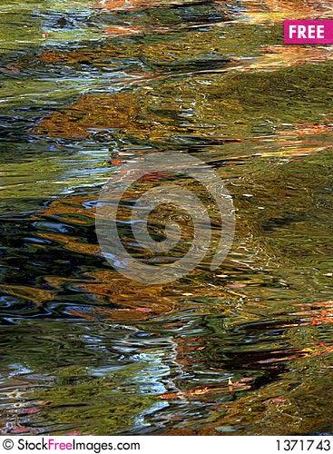 Autumn lake abstract Stock Photo