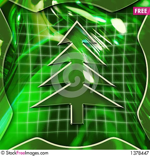 Christmas Tree Icon Stock Photo