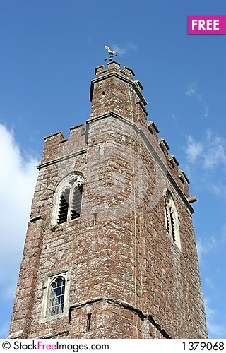 Church in Devon Stock Photo