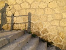 Shadow Stairs Stock Images