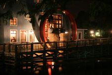 Nighttime Waterwheel Royalty Free Stock Image