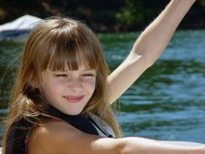 Free Little Girl On Boat Stock Photos - 1370893