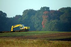 Free Backhoe In The Fall Royalty Free Stock Photography - 1371607