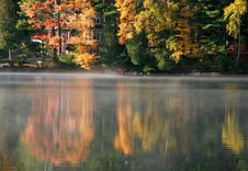 Autumn Lake Reflection Stock Images