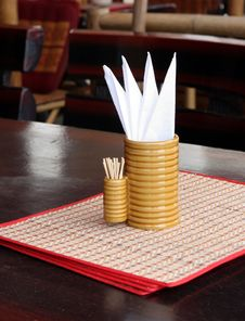 Free Restaurant Table Royalty Free Stock Photography - 1372017