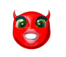 Devil Smilie Stock Images