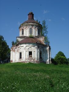 Vladimir Region, Destroyed Church In Russia Royalty Free Stock Image