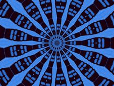 Free Blue Kaleidoscope Circle Royalty Free Stock Images - 1372539