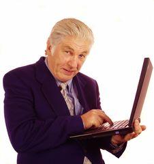 Laptop User Stock Image