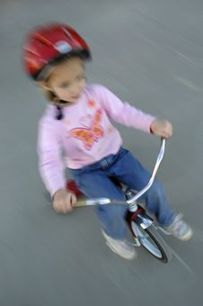 Free Little Girl Biking Stock Photo - 1374080