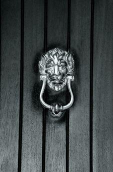 Medieval Bronze Door Knocker Royalty Free Stock Images
