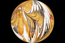 Free Marbled Silk Ball Royalty Free Stock Photography - 1376007