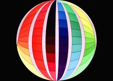 Free Rainbow Coloured Ball Royalty Free Stock Photography - 1376047