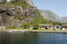 Free Lysefjord Village Stock Photos - 1376753
