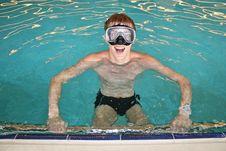 Man In Pool Stock Photo
