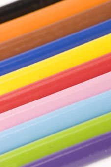 Free Assorted Pencils Stock Image - 1377611