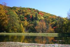 Colorful Fall Foilage On Hills Stock Photography