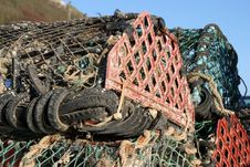 Free Lobster Pots Royalty Free Stock Images - 1378789