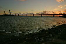Free Bridge At Sunset Royalty Free Stock Photography - 1378997