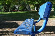 Free Blue Park Bench Stock Photography - 1379052