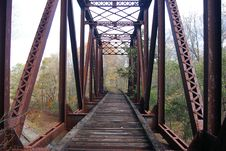 Free Abandoned Pennsylvania Railroad Trestle Royalty Free Stock Image - 1379226