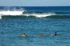 Free Paddling Out Stock Image - 1379251
