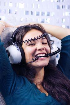Free Headphone Woman Stock Photo - 1379720