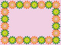 Free Frame With Flowers Royalty Free Stock Images - 13704379