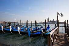 Free Gondola In Venice Stock Images - 13701044
