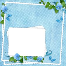 Free Card For The Holiday  With Flowers Royalty Free Stock Photo - 13701175