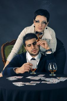 Poker Face Stock Photos