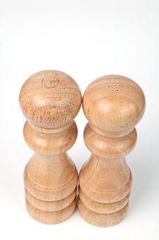 Free Two Wooden Figures Royalty Free Stock Images - 13701659