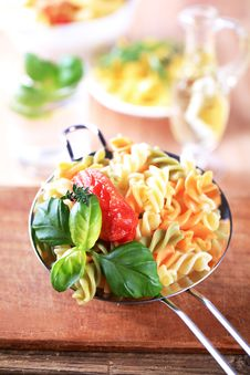 Free Tricolor Pasta Stock Photo - 13701950