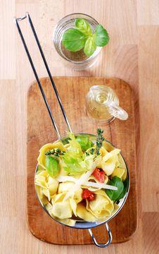 Free Tortellini In A Sieve Stock Image - 13701961